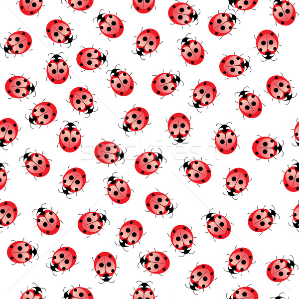 Seamless ladybug pattern  Stock photo © dvarg