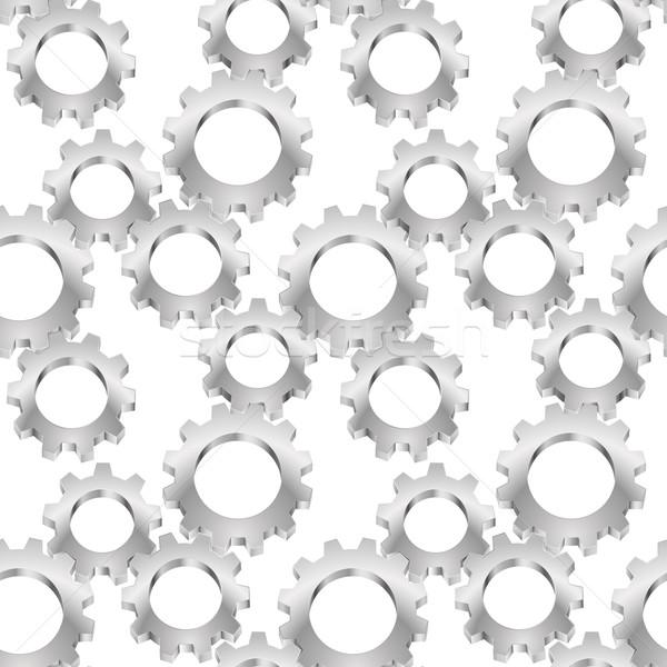 Foto d'archivio: Senza · soluzione · di · continuità · texture · attrezzi · illustrazione · bianco · design
