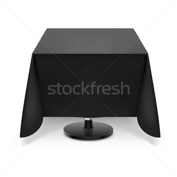Square table with black tablecloth. Stock photo © dvarg