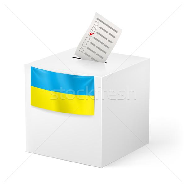 Ballot box with voicing paper. Ukraine. Stock photo © dvarg