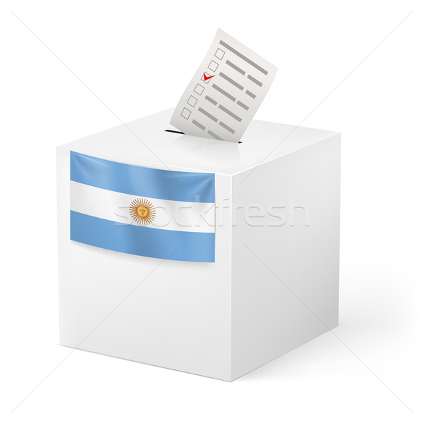 Ballot box with voting paper. Argentina Stock photo © dvarg