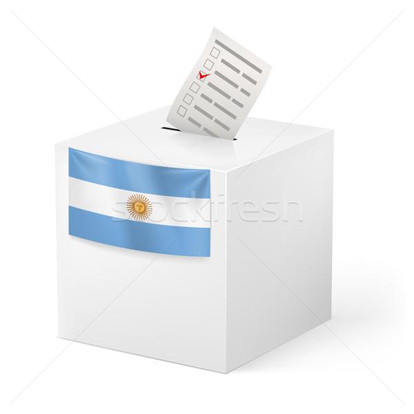 Scrutin boîte papier Argentine élection Photo stock © dvarg