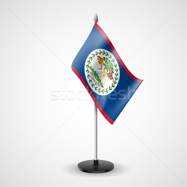 Stock fotó: Asztal · zászló · Belize · világ · felirat · konferencia