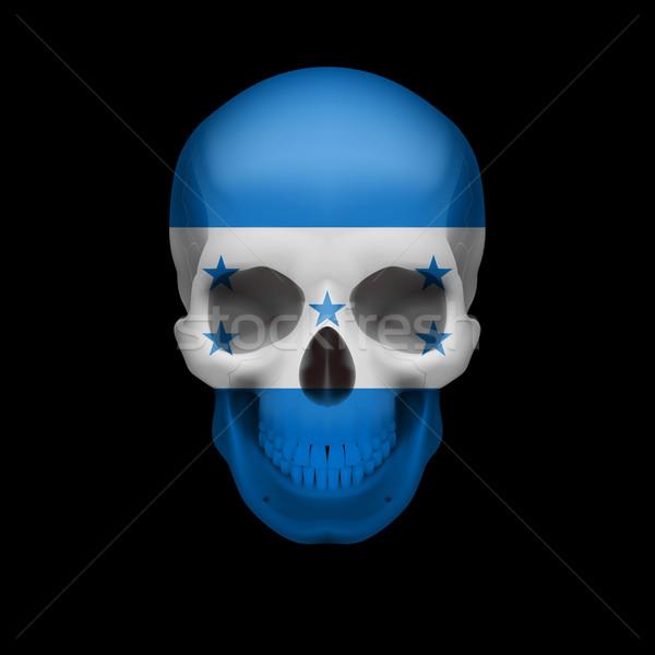 Honduras flag skull Stock photo © dvarg