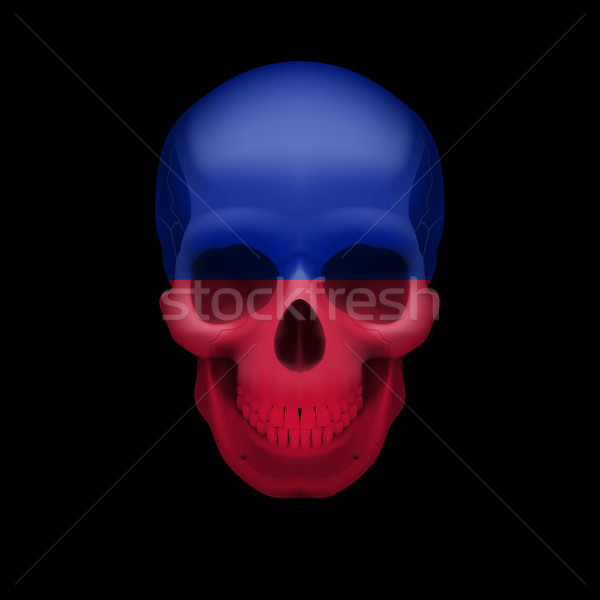 Haitian flag skull Stock photo © dvarg