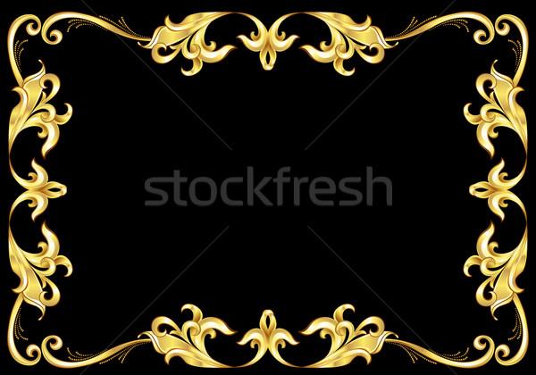 Abstract Gold Frame.  Stock photo © dvarg