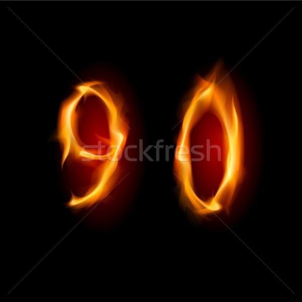Números nove zero dois alfabeto símbolo Foto stock © dvarg