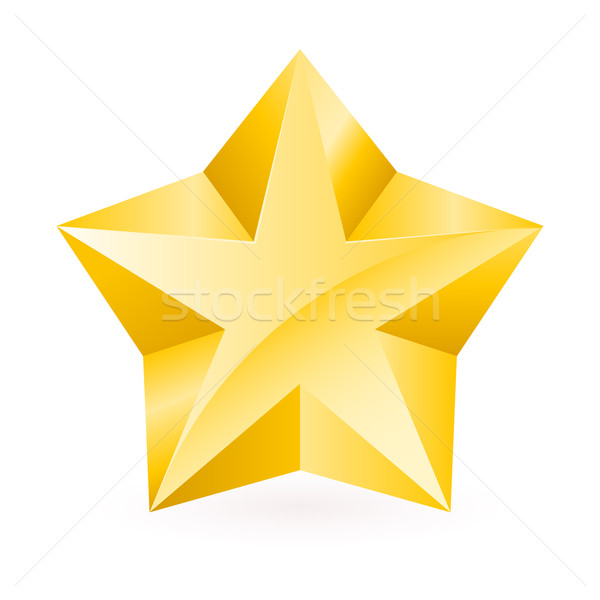 Shiny Gold Star Stock photo © dvarg