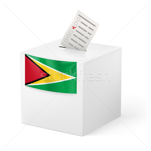 Ballot box with voting paper. Guyana Stock photo © dvarg