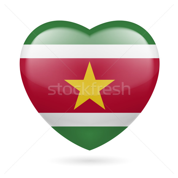 сердце икона Суринам флаг цветами любви Сток-фото © dvarg