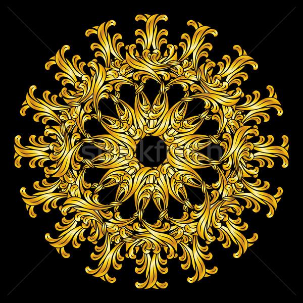 Kwiatowy wzór złota kwiat Zdjęcia stock © dvarg