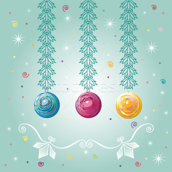 Three Christmas-tree balls Stock photo © dvarg
