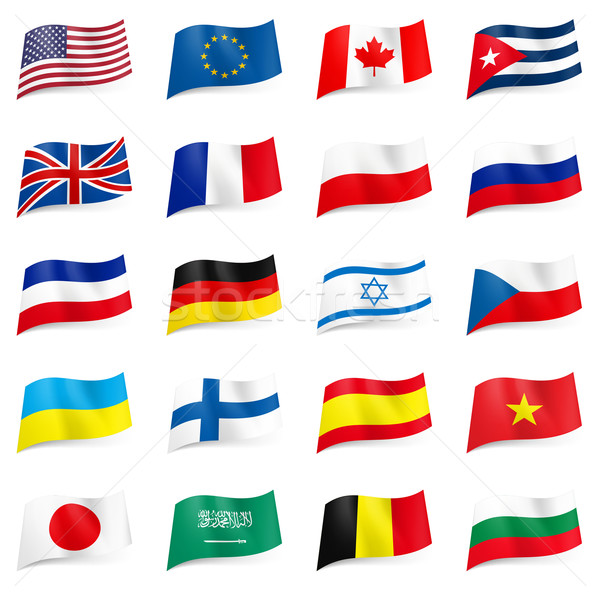 Set of World flags icons Stock photo © dvarg
