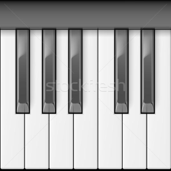 Pianotoetsen cool illustratie creatieve ontwerp toetsenbord Stockfoto © dvarg