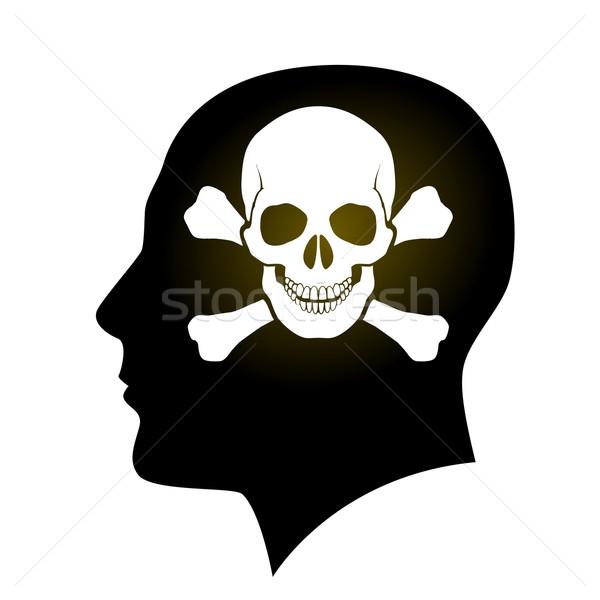 Skull and Crossbones in head Stock photo © dvarg
