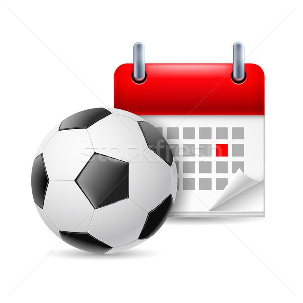 Football and calendar Stock photo © dvarg
