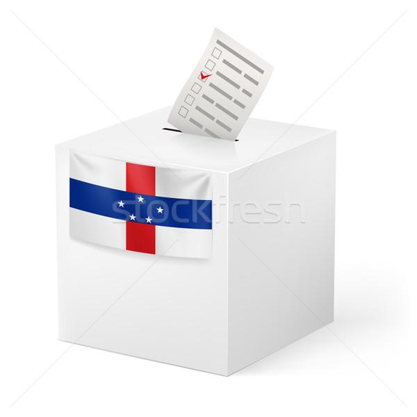 Cédula caixa votação papel Holanda eleição Foto stock © dvarg