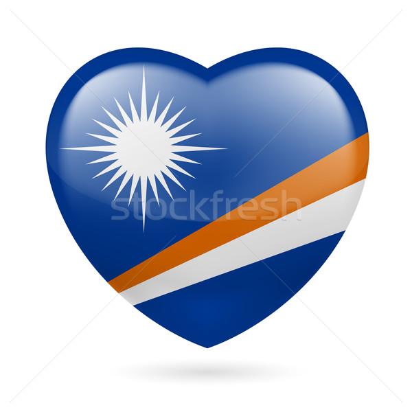 Foto stock: Coração · ícone · amor · bandeira · projeto