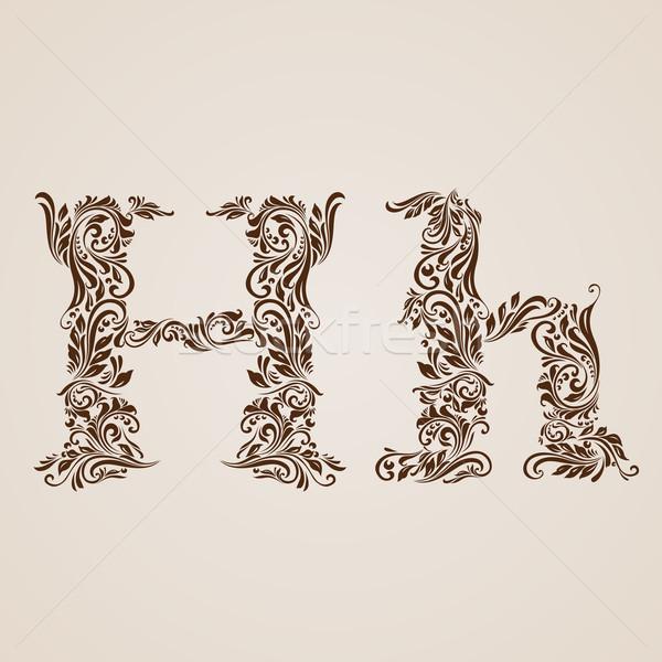Decorated letter h Stock photo © dvarg