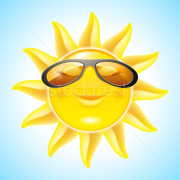 Sorridere sole occhiali da sole cool design Foto d'archivio © dvarg
