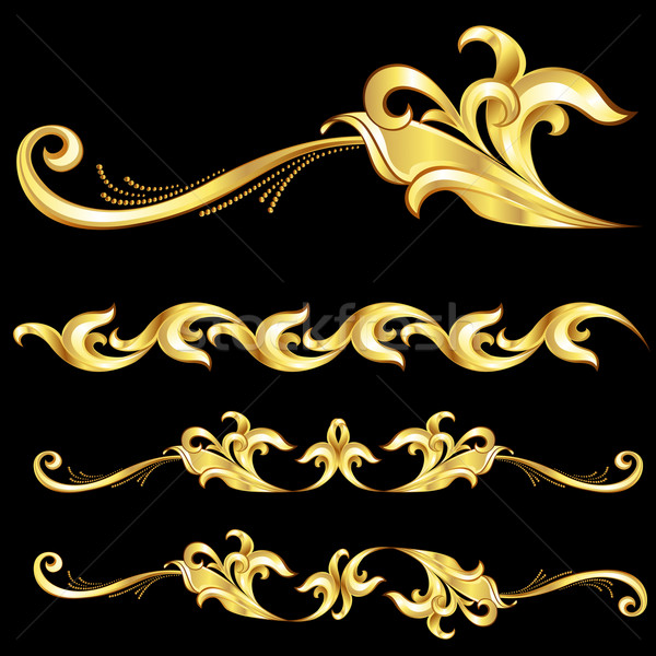 Abstract Gold Frame.  Stock photo © dvarg