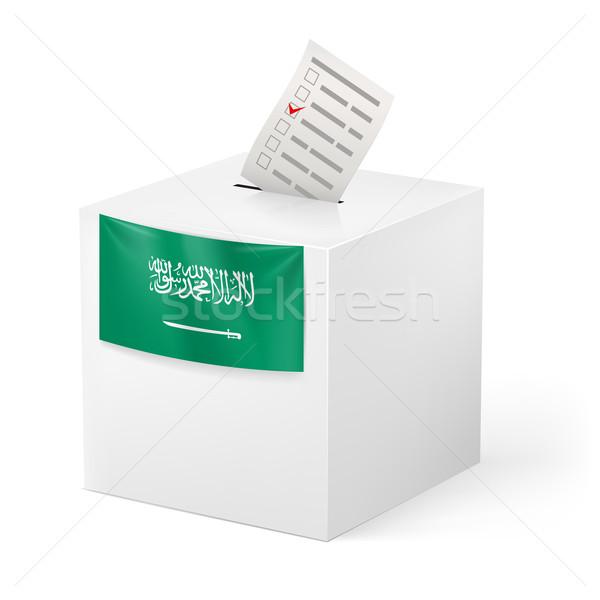 Szavazócédula doboz papír Szaúd-Arábia választás izolált Stock fotó © dvarg