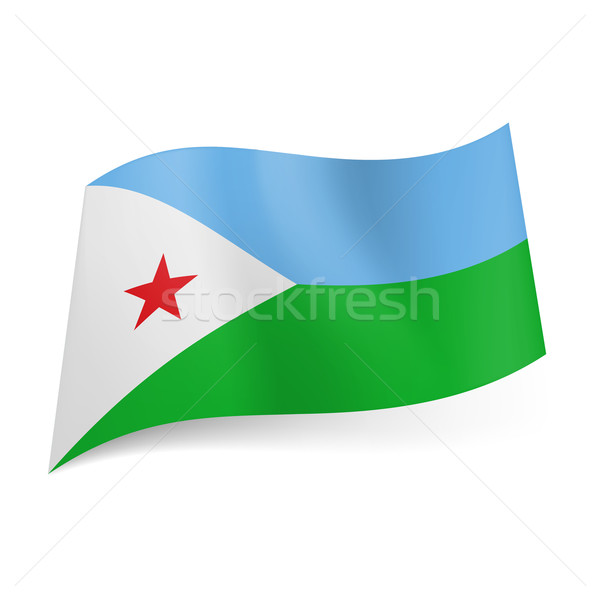 State flag of Djibouti Stock photo © dvarg