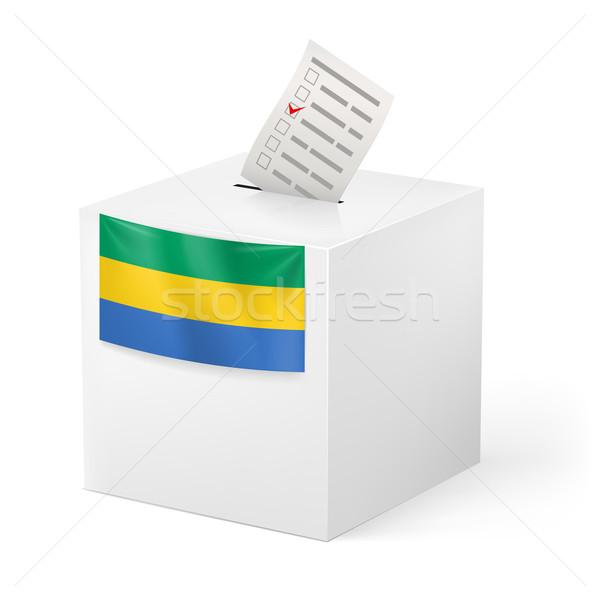 Oylama kutu kâğıt cumhuriyet seçim Stok fotoğraf © dvarg