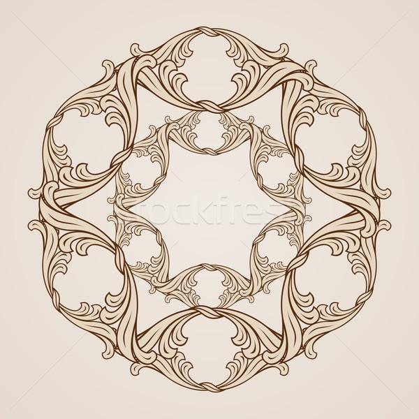 Kwiatowy wzór streszczenie stylu ilustracja świetle Zdjęcia stock © dvarg