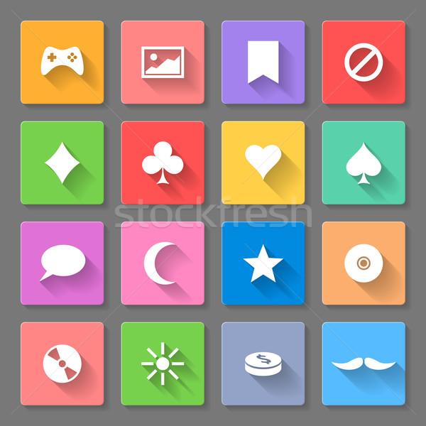 Set of flat icons Stock photo © dvarg