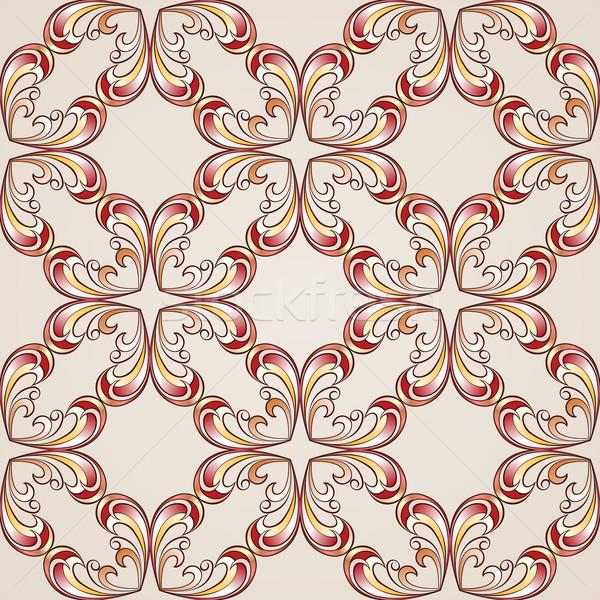 Ornate floral pattern Stock photo © dvarg