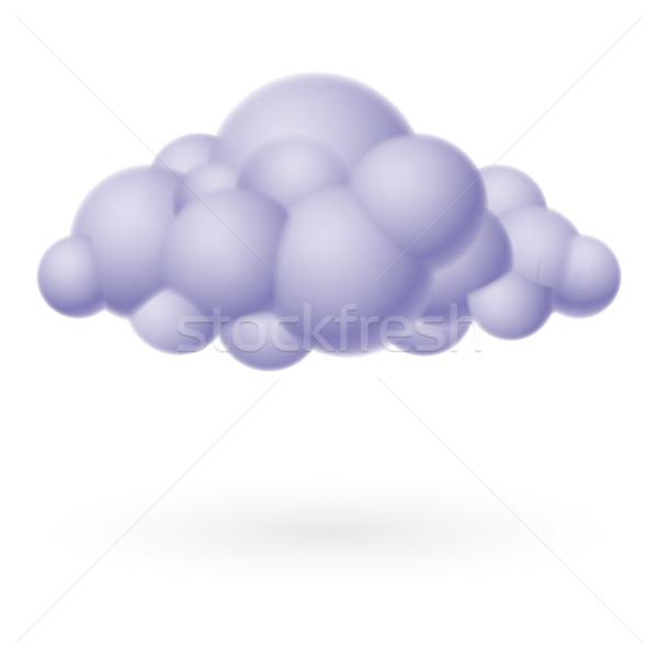 Chmura icon ilustracja biały projektu komputera Internetu Zdjęcia stock © dvarg
