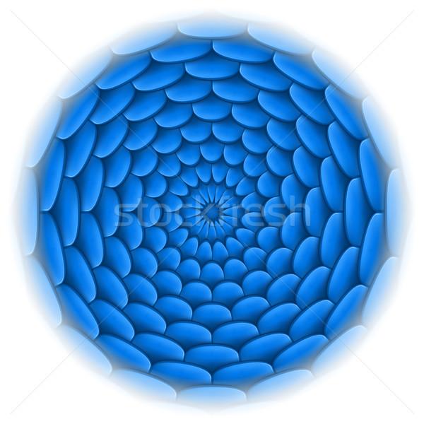 Foto stock: Círculo · techo · azulejo · patrón · azul · ilustración