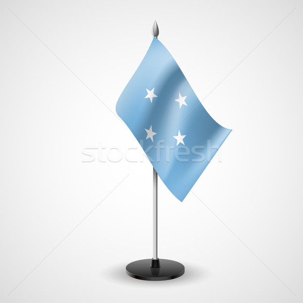 Table flag of Federated States of Micronesia Stock photo © dvarg