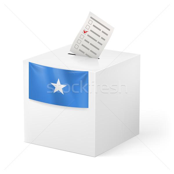 голосование окна голосование бумаги Сомали выборы Сток-фото © dvarg