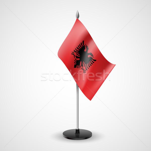 Table flag of Albania Stock photo © dvarg
