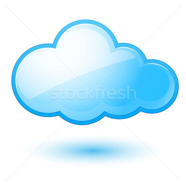 Bulutlar soyut bulut örnek beyaz dizayn Stok fotoğraf © dvarg