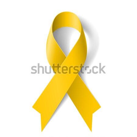 Geel lint bewustzijn witte bot kanker Stockfoto © dvarg