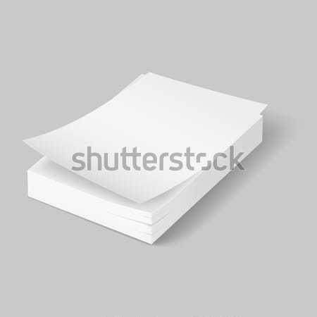 Papieren eerste vel grijs business Stockfoto © dvarg