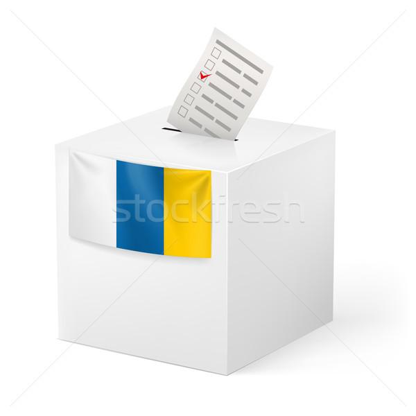 Cédula caixa votação papel canárias eleição Foto stock © dvarg