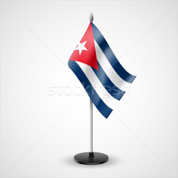 Tavola bandiera Cuba mondo segno conferenza Foto d'archivio © dvarg