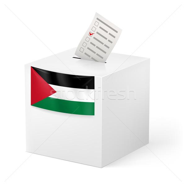 Ballot box with voting paper. Palestine Stock photo © dvarg