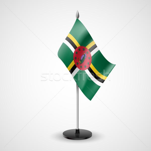 таблице флаг Доминика Мир конференции столе Сток-фото © dvarg