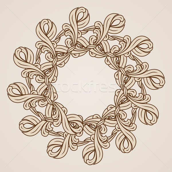 Kwiatowy wzór stylu ilustracja świetle Zdjęcia stock © dvarg