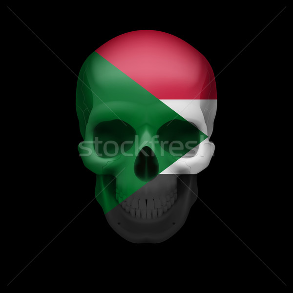 Sudanese flag skull Stock photo © dvarg