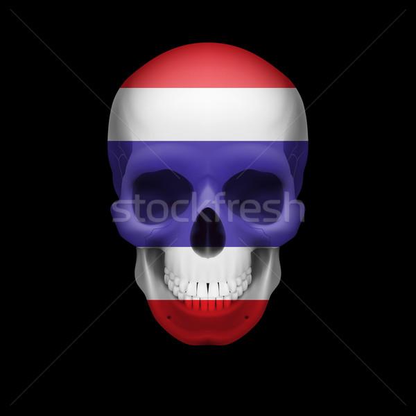 Thai flag skull Stock photo © dvarg