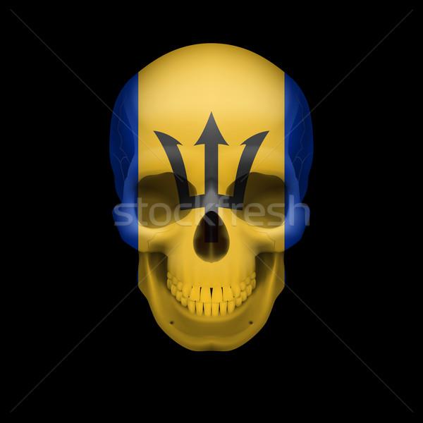 Barbadian flag skull Stock photo © dvarg