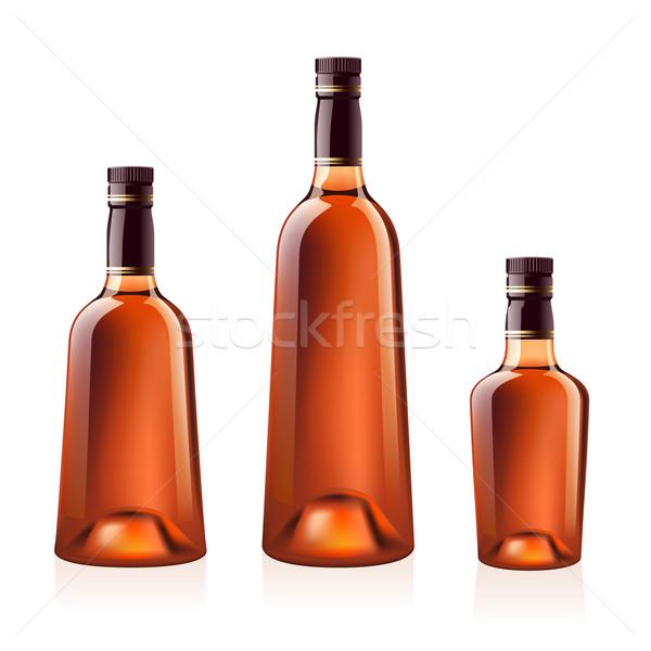 Botellas coñac brandy realista vector aislado Foto stock © dvarg