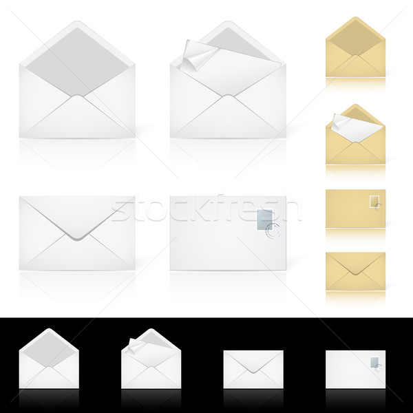 Set of different icons for e-mail Stock photo © dvarg