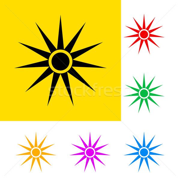оптический излучение цвета знак черный Сток-фото © dvarg